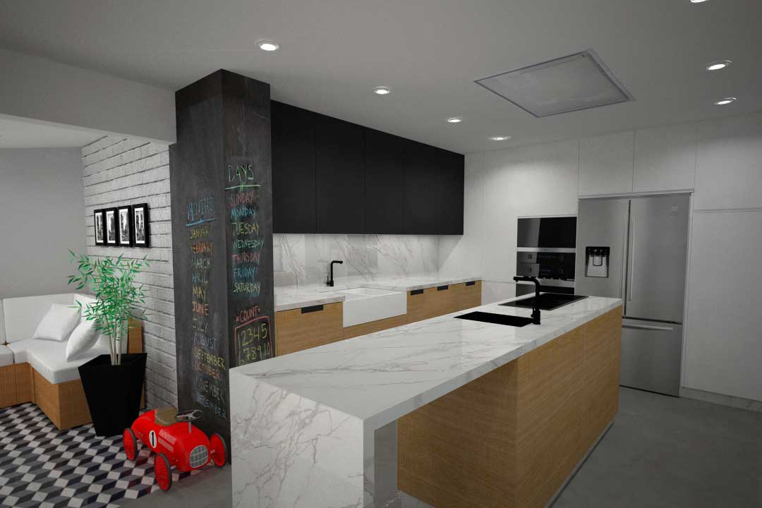 Propuesta de diseño de cocina para vivienda en C/ Modesta Goicouria ...
