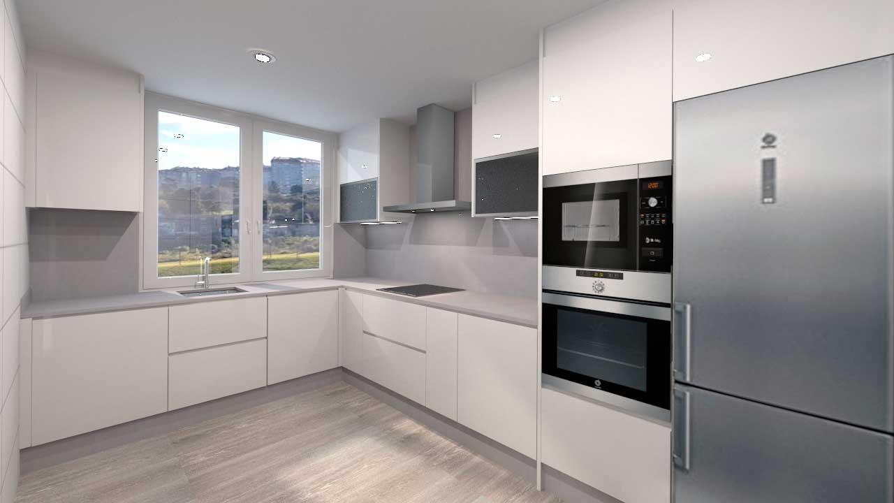 Propuesta de dise o de cocina para vivienda en ronda 2 - Disenos de cocinas en l ...