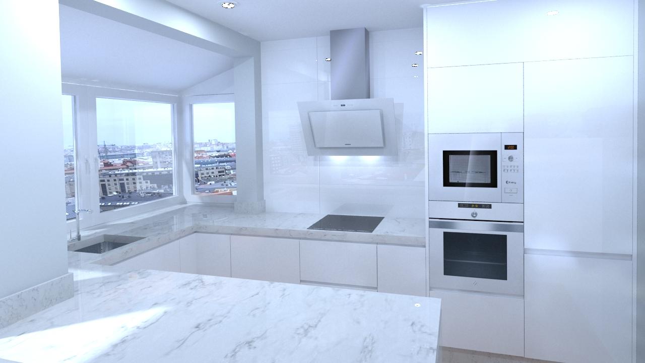 Propuesta de diseño de cocina para vivienda en Ronda. (La Coruña ...