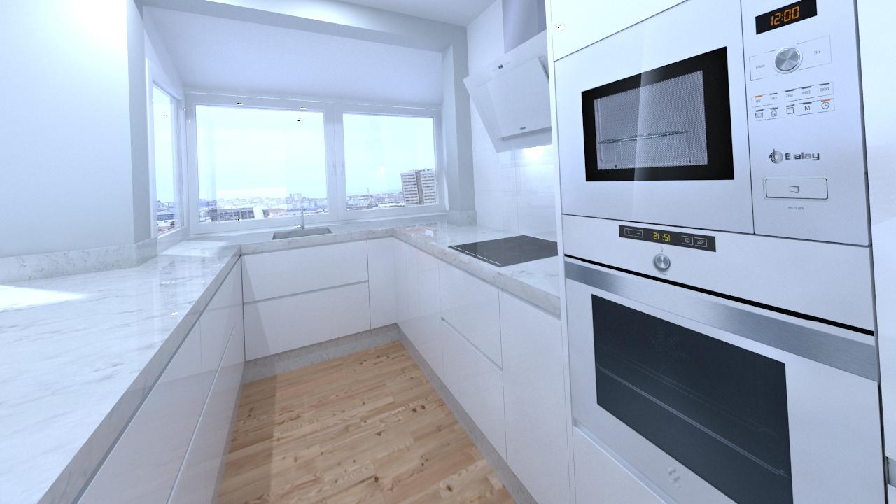 Propuesta de dise o de cocina para vivienda en ronda la - Diseno para cocina ...
