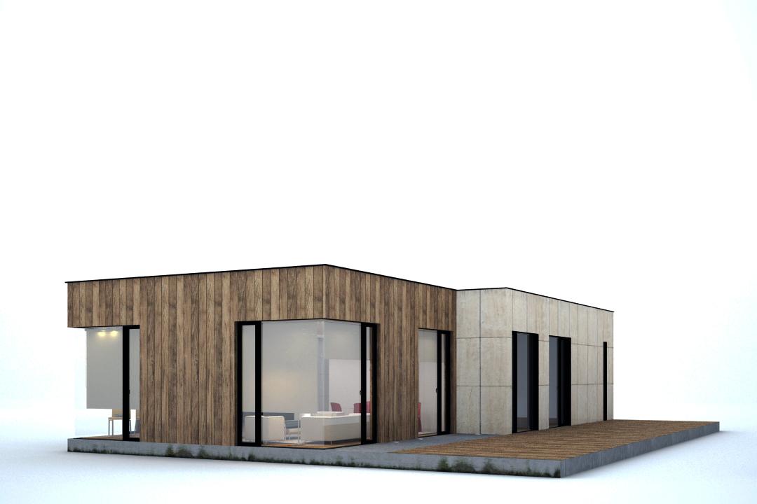 Propuesta de dise o de vivienda modular de 3 dormitorios for Diseno vivienda