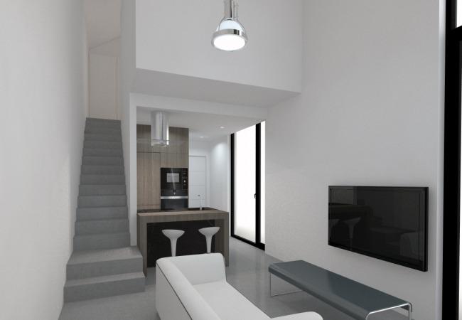 Diseño vivienda modular interior