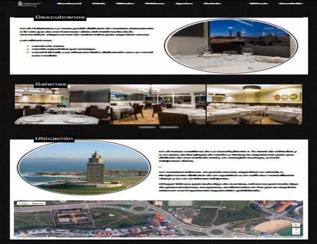 Página La Torre sigue la misma estructura que las otras dos y donde el movimiento de CSS es por medio de Media Queries