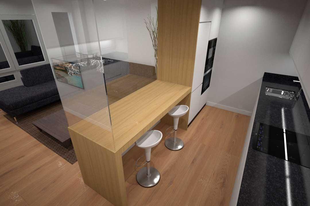 Diseño cocina integrada en salón